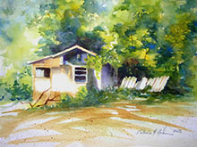 Pat Hahn watercolor painting - The Old Homestead